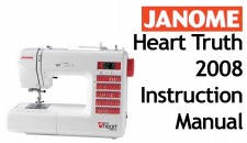 Janome heart truth 2008 user pdfmanuals for Decor excel 5018